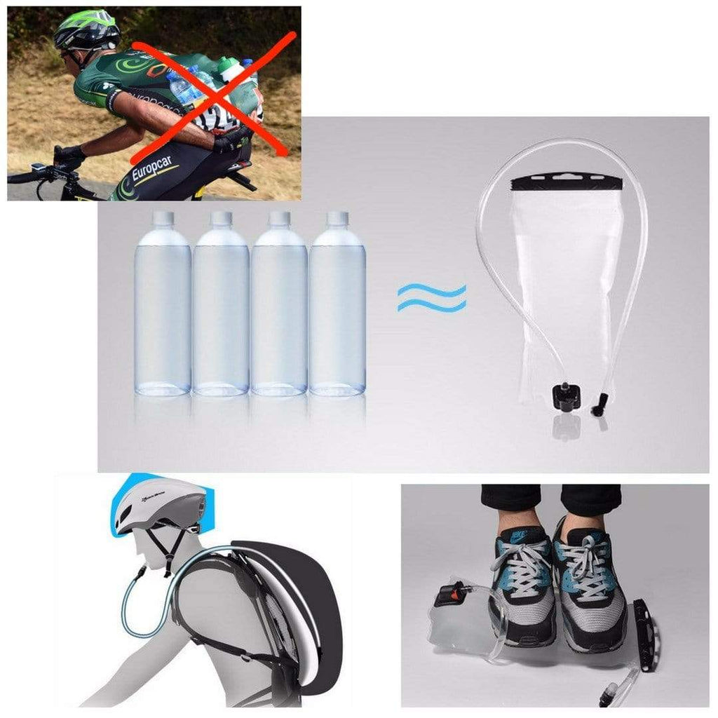 2L Portable Bike Water Bag Bicycle Front Launch