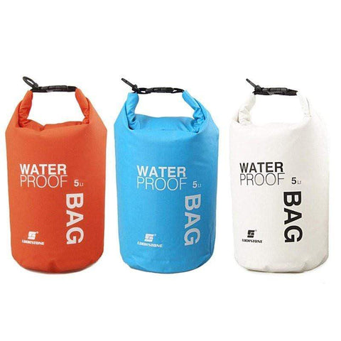 5L Waterproof Dry Bag Outdoor Blue Front Launch