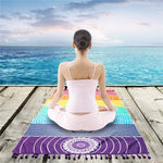 "7 Chakra Yoga Tapestry (100% Cotton) Yoga 27.5""x59"" Front Launch"