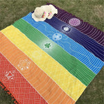 7 Chakra Yoga Tapestry (100% Cotton) Yoga Front Launch