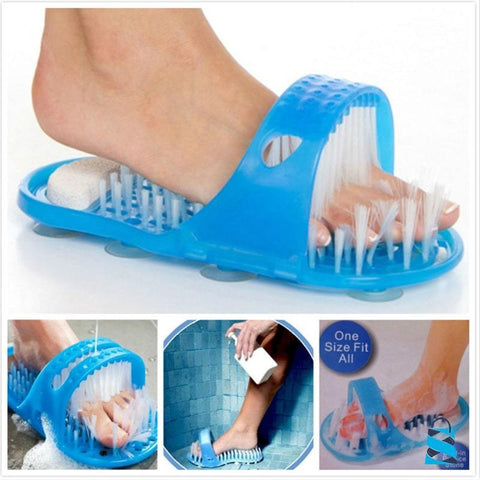 Bath Foot Scrubber Brush Gadgets blue Petworld Store