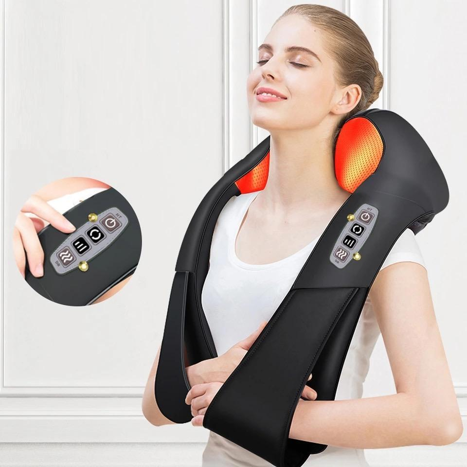 Electrical Shiatsu Massager Relaxation Black Front Launch