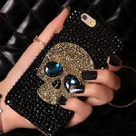 Handmade Saphire Eye Skull Phone Case Skulls Front Launch