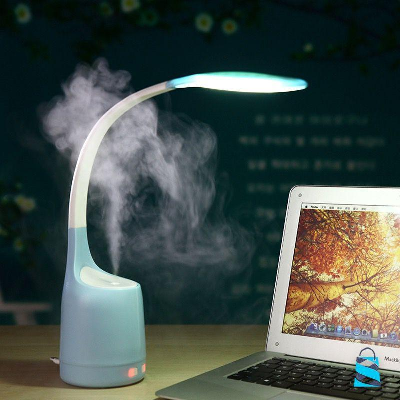 LED Light Air Humidifier Gadgets Blue Front Launch
