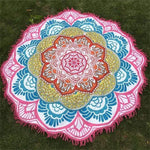Mandala Lotus (100% Cotton) Yoga Red Towel MiniDeals Store