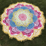 Mandala Lotus (100% Cotton) Yoga Yellow A Towel MiniDeals Store