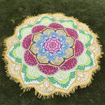 Mandala Lotus (100% Cotton) Yoga Yellow B Towel MiniDeals Store