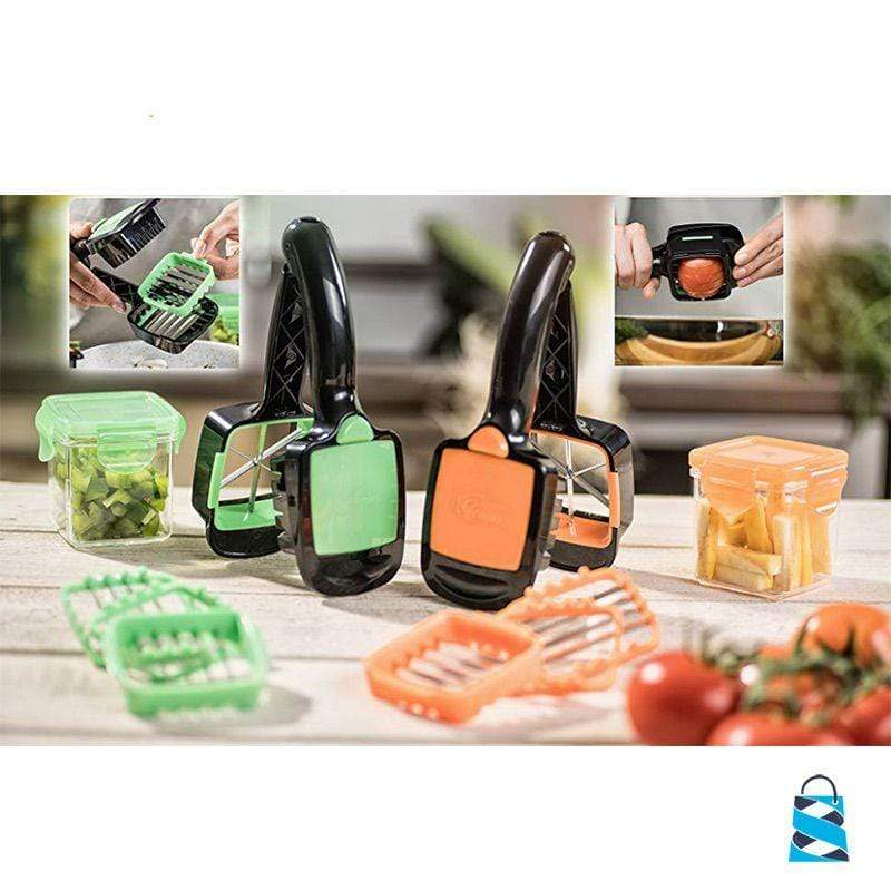 Portable Veggie Cutter Kitchen Orange Dropship Professional Service Store