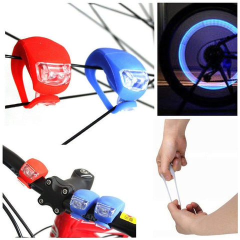Silicone Bike LED Light Bicycle black Front Launch