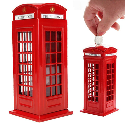 London Telephone Booth Coin Bank - Donum.shop