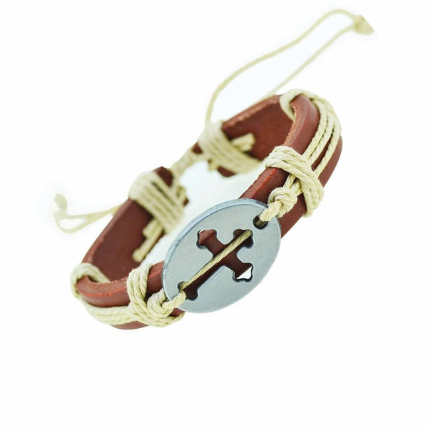 """The Cross Collection""  8 Leather Bracelets - Donum.shop"