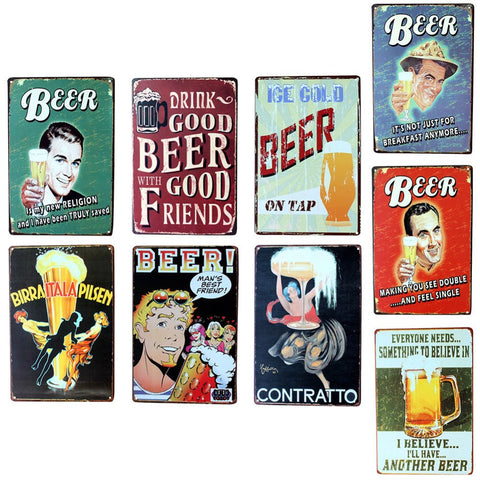 Beer Vintage Metat Sign - Donum.shop