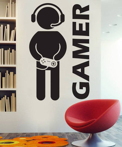 """The Gamer""  Vinyl Wall Decal - Donum.shop"