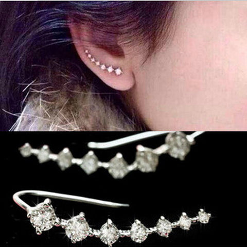 new fashion hot Seven stars CZ diamond Trendy Jewelry Beautifully Ear row Accessories line type Earrings for women EH0282