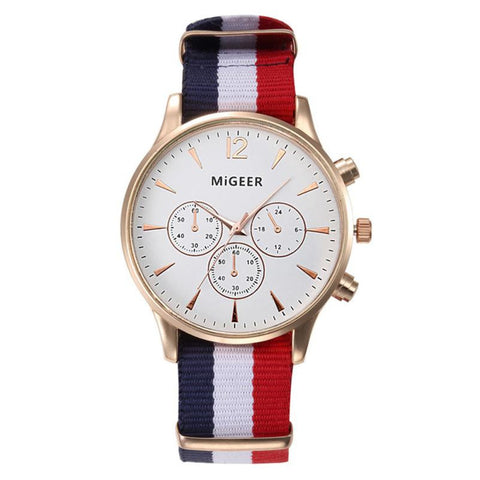 Best Selling! Military Watches Men Fashion Striped Canvas Quartz Wrist Watch Mens Watch Reloj Relogio Luxury Men's Clock Hours