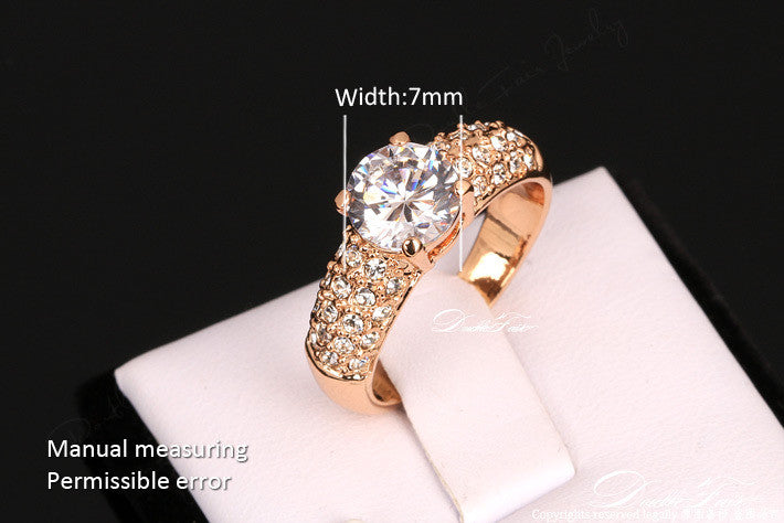 Engagement Diamond Gold Plated Wedding Rings