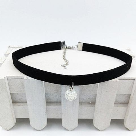 Fashion Black Rope Resin Pendant Choker Necklaces Jewelry For Women 2016 Newest Statement Necklaces Collares Hot