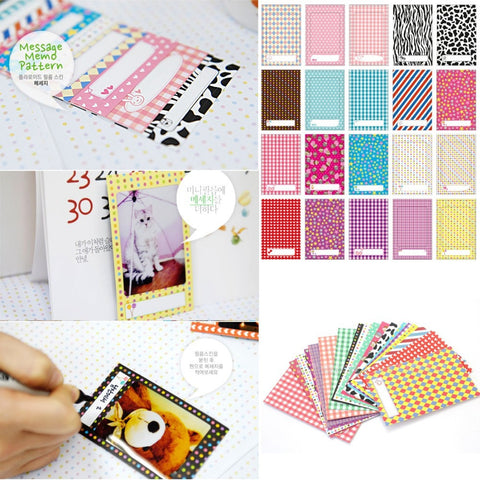 20x Polaroid Films Photo Stickers For FujiFilm Instax Mini Instant 8 7S 25 50S