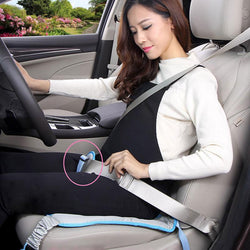 Pregnancy Car Seat Belt for Safety Protection - Pink & Blue - Voodeal