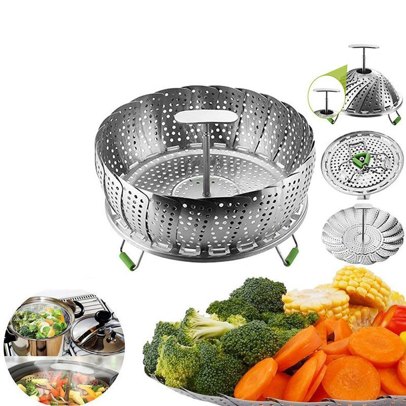 Stainless Steel Vegetable Steamer Basket - Voodeal