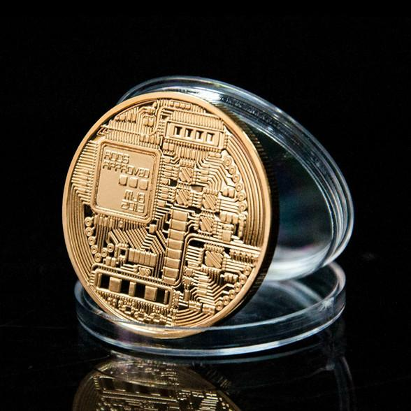 Gold Plated Bitcoin Coin Collectible - Voodeal