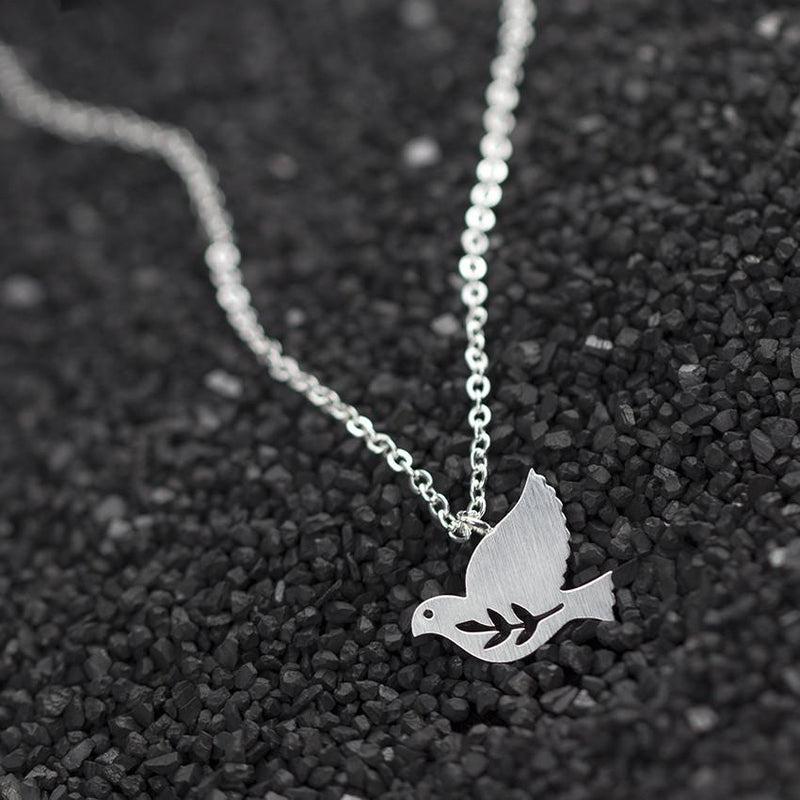 PEACE DOVE BIRD NECKLACE - Voodeal