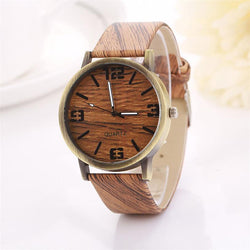 Wooden Grain Fashion Quartz Watch Wristwatch - Voodeal