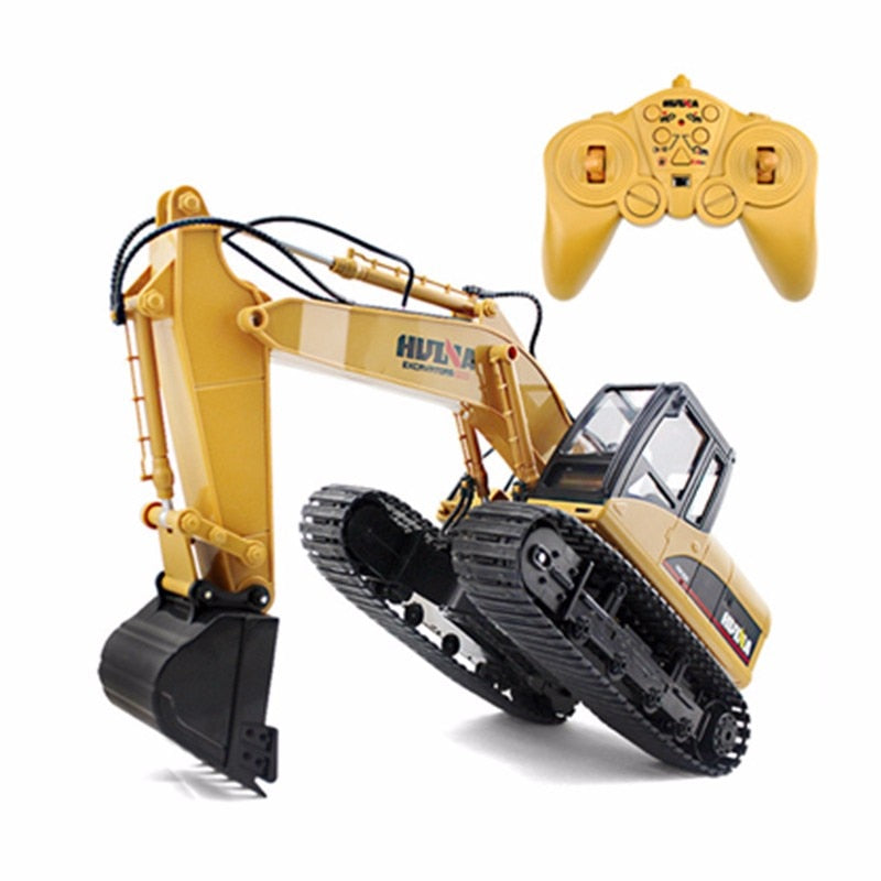 RC Excavator Hydraulic - 15 Channel 2.4G 1/12 Remote Control Metal Excavator