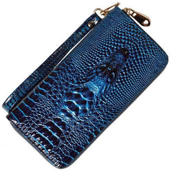 3D Crocodile Alligator Women Wristlet Wallet - Voodeal