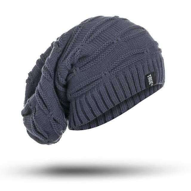 Beanie Hat - Winter Hat Long Size Knitted Cap Men & Women - Voodeal