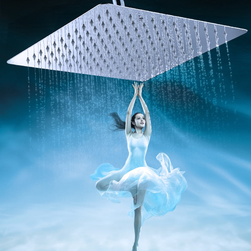 Rain Shower Head | Stainless Steel 16 Inch Square Rainfall Shower Head