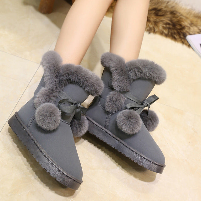 Womens Snow Boots - Fluffy Winter Boots For Women - Voodeal