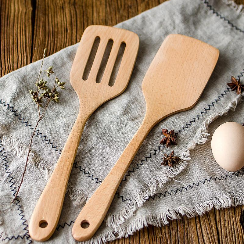 Wooden Spatula Kitchen Eco friendly Cooking Utensils - Voodeal