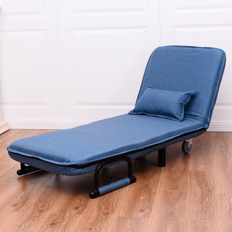 Convertible Sleeper Chair - Modern Folding Arm Pull Out Sleeper Chair - Voodeal