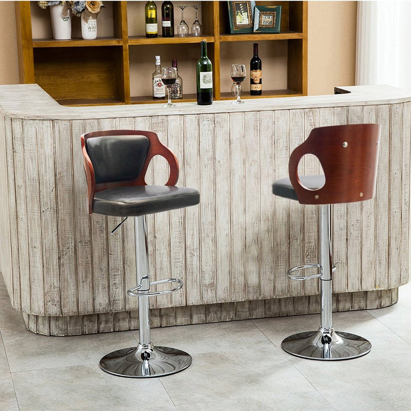 Bar Stools With Backs - Leather Counter Height Stools With Backs - Voodeal