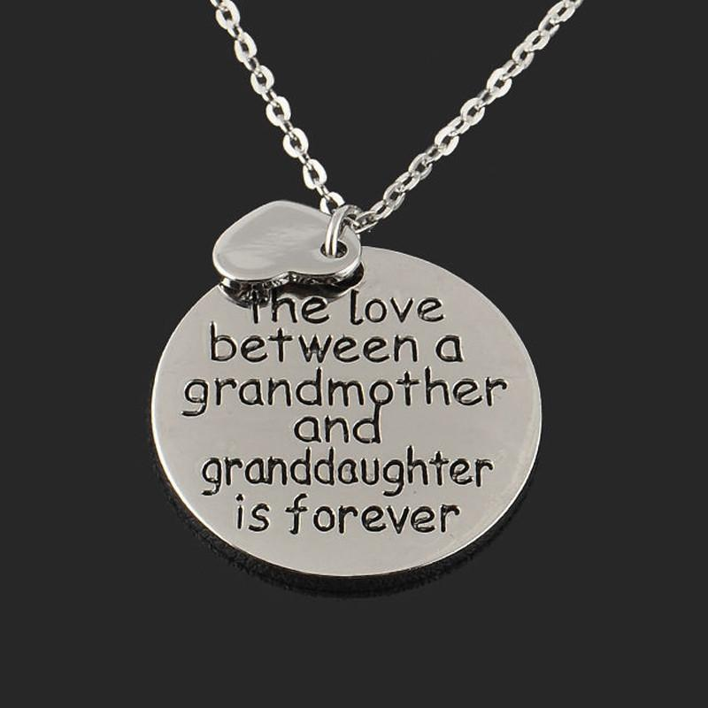 Grandma and Granddaughter Love Is Forever Necklace Pendant - Voodeal
