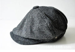 Newsboy Flat Cap - Wool Blend Newsboy Hat - Voodeal