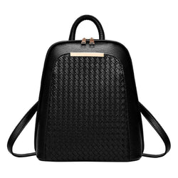Backpack Purse - Black Leather Backpack Womens - Voodeal
