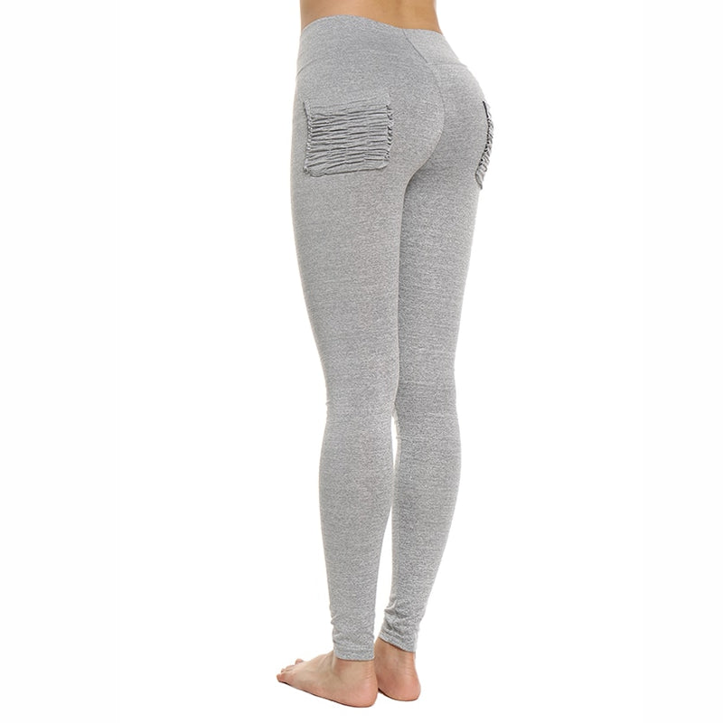 Yoga Pants With Pockets - Stretchy Women Yoga Pants Sports Running Sportswear - Voodeal