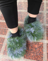 Fuzzy Slippers - Furry Fur Womens House Slippers - Voodeal