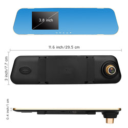 Front And Rear Dash Cam - 1080P HD Front Rear DVR Lens Video Recorder