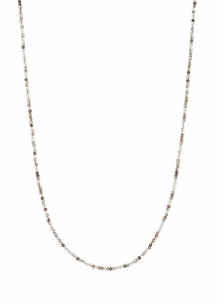 Swarovski crystal long strand necklace, Alone or together with 02533N, Can be worn short double