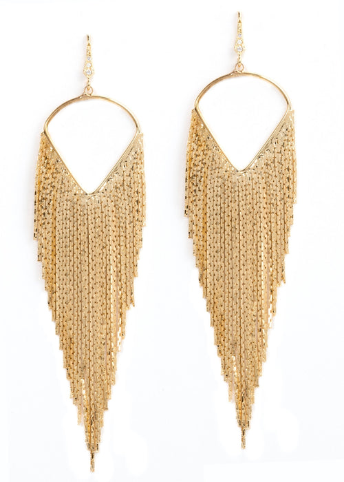 Waterfall Earrings -Gold