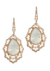Swarovski Rock Crystal centered Moroccan motif earrings, White Opal