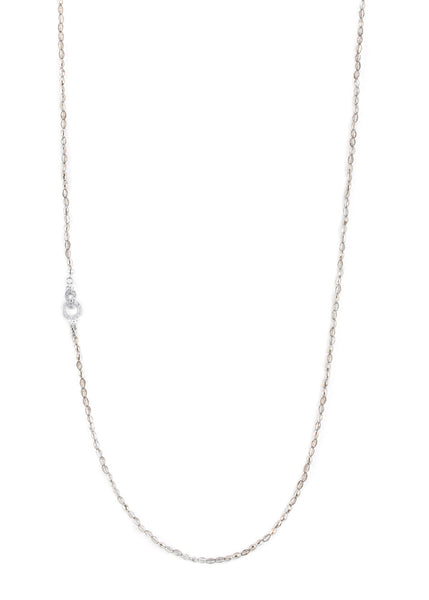 Barrel cut Swarovski Crystal long strand necklace, Black diamond, Great for layering