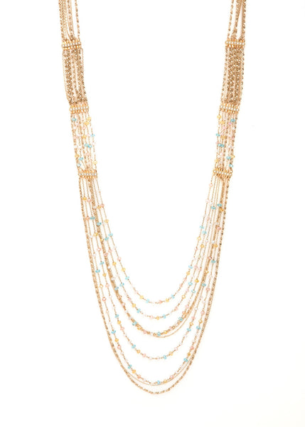 Cascading Light Chandelier Multi strand Necklace