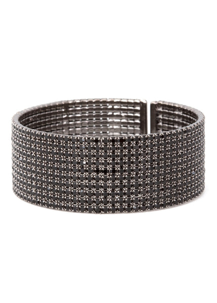 Black CZ Bangle, 10 Rows