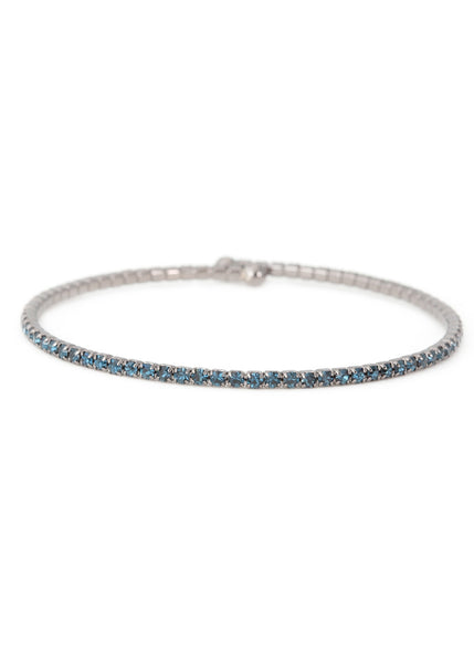 Blue CZ Bangle,1 Row