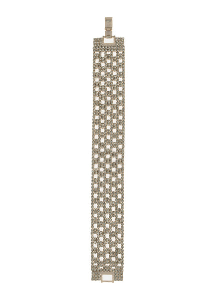 Soft link CZ encrusted Bracelet, Antique Gold finish