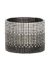 Gradated CZ Bangle, 20 Rows, Gun metal finish